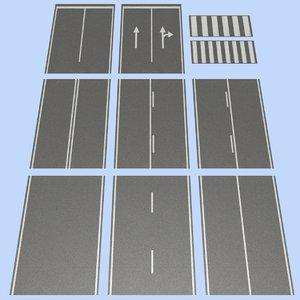 road mht-02 2 lane 3d model