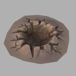cartoon crater 3d max