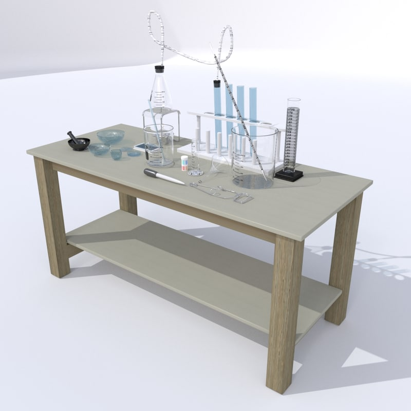 chemistry lab table 3ds