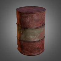 3d old oil barrel model