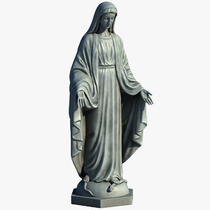 3ds max virgin mary statue