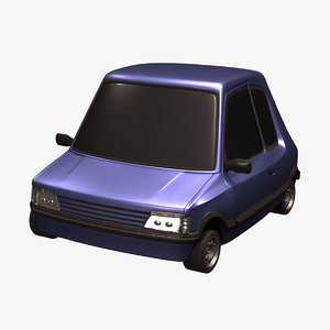 cartoon compact car 3d 3ds