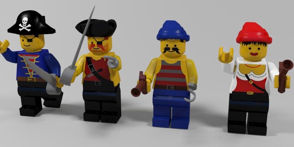3d max lego pirates characters
