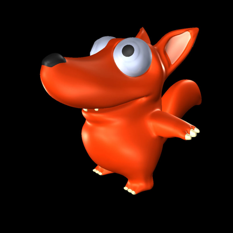 3d cartoon rat