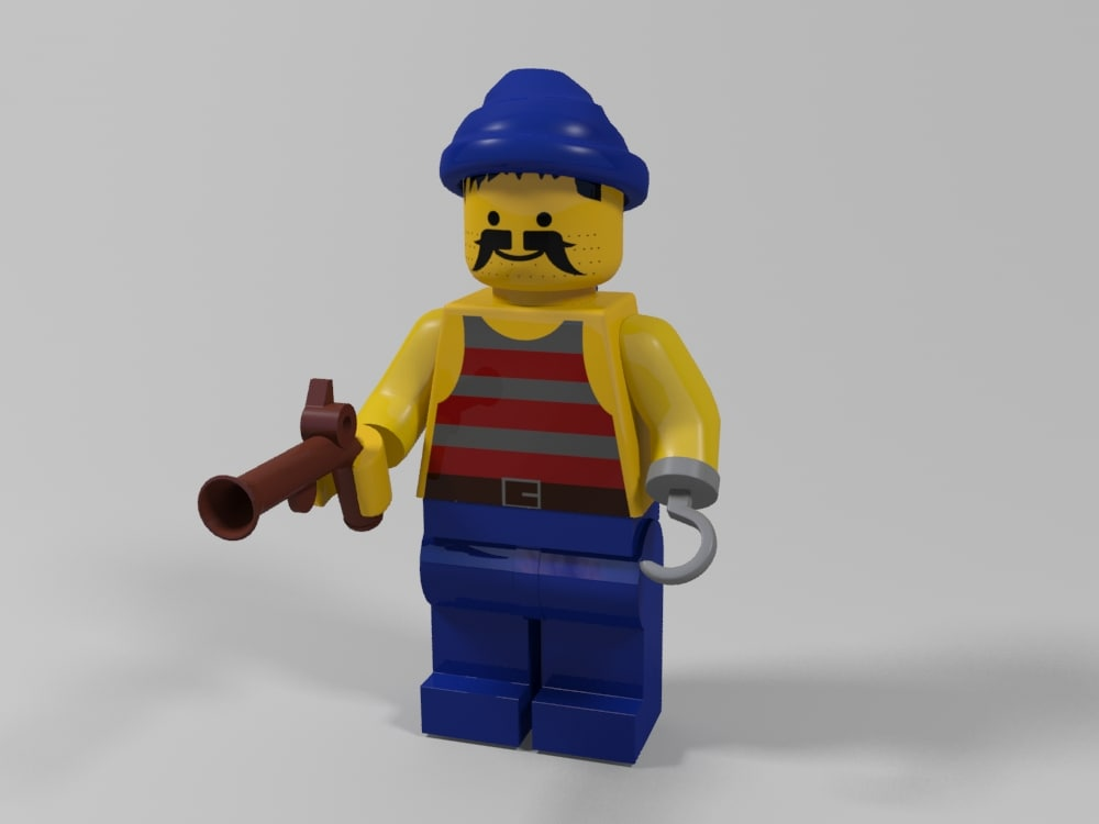 lego pirate character 3 3d max