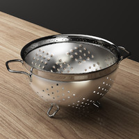 3d model black stainless basket