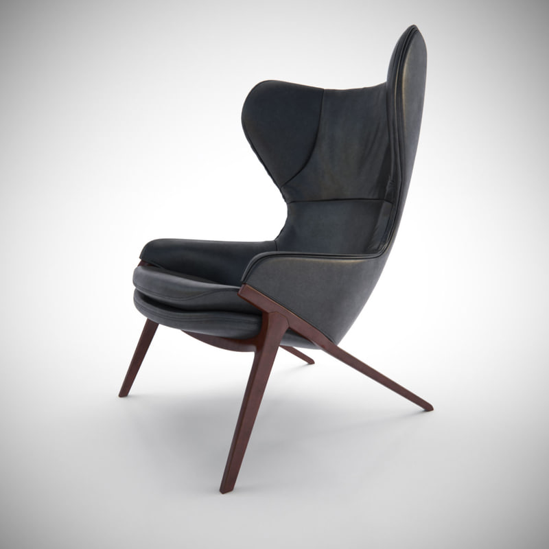 3d cassina p22 chair furniture