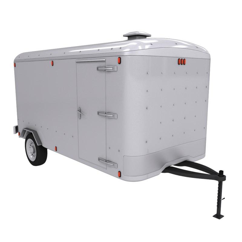 container caravan 3d model