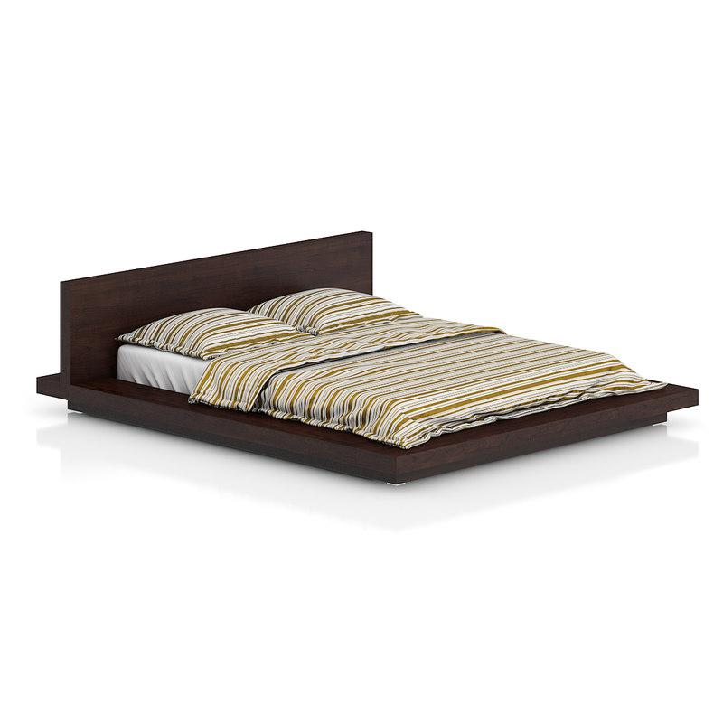 obj wooden bed sheet bedclothes