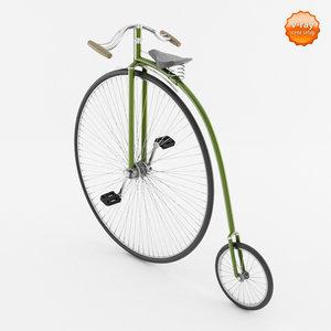 vintage bicycle 3d max