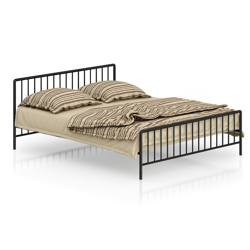 metal striped bed 3d model