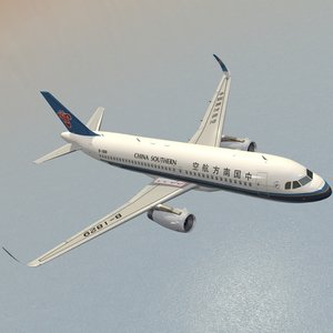 sharkleted a320neo china southern 3d 3ds