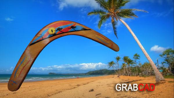 3ds max australian boomerang