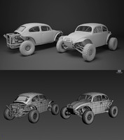 3d model buggy pack ready