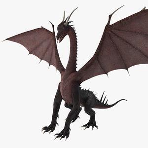 dragon 3 rigged 3d max