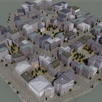 french town 3d 3ds
