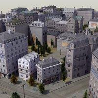 european city street 3d model
