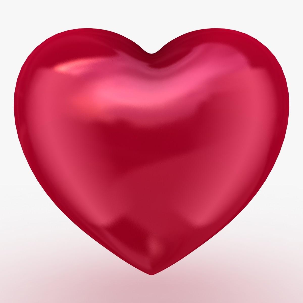 heart shape 3d models for download turbosquid