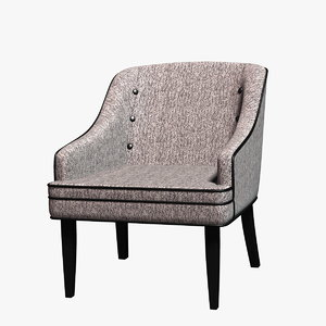 3d carsen fabric accent chair model