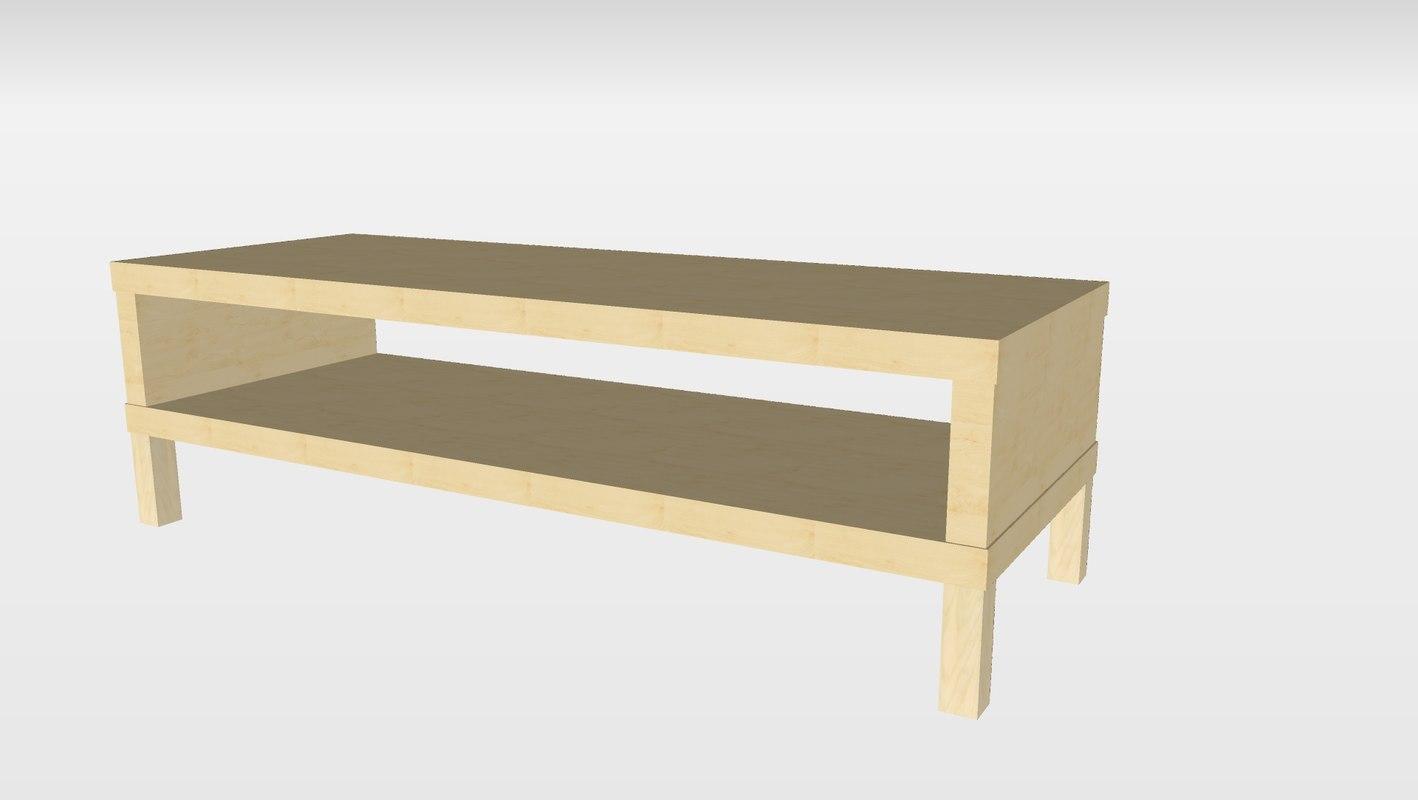 ikea lack tv unit 3d 3ds. Black Bedroom Furniture Sets. Home Design Ideas