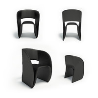 cuve chair furniture 3d model
