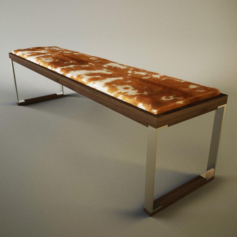 cowhide designer sofa 3d 3ds