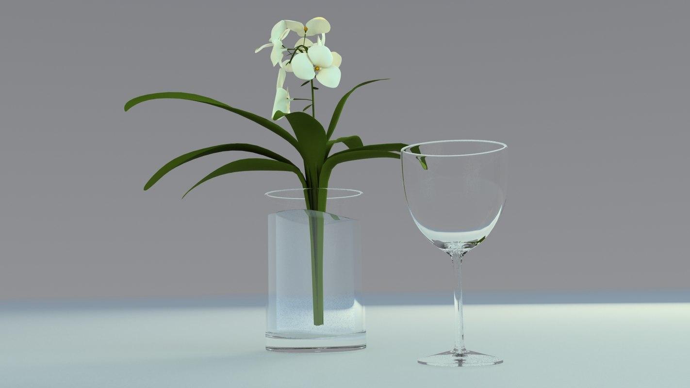 3d model cup glass