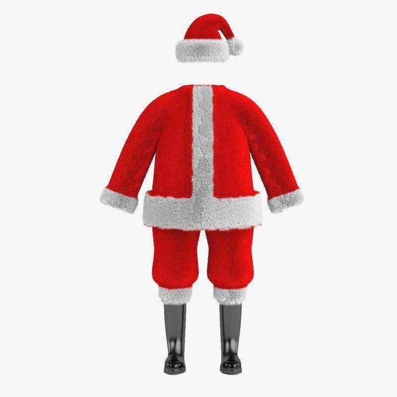 3d santas clothes