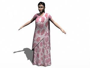 3d - women wearing sadi model