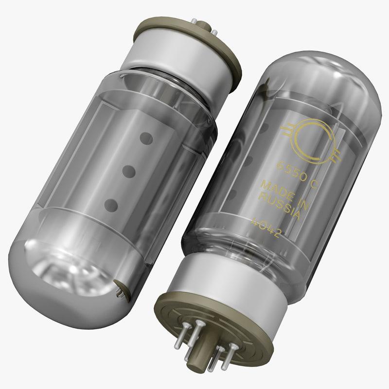 3d vacuum tube 6550c