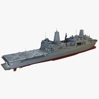 3d model uss green bay ship
