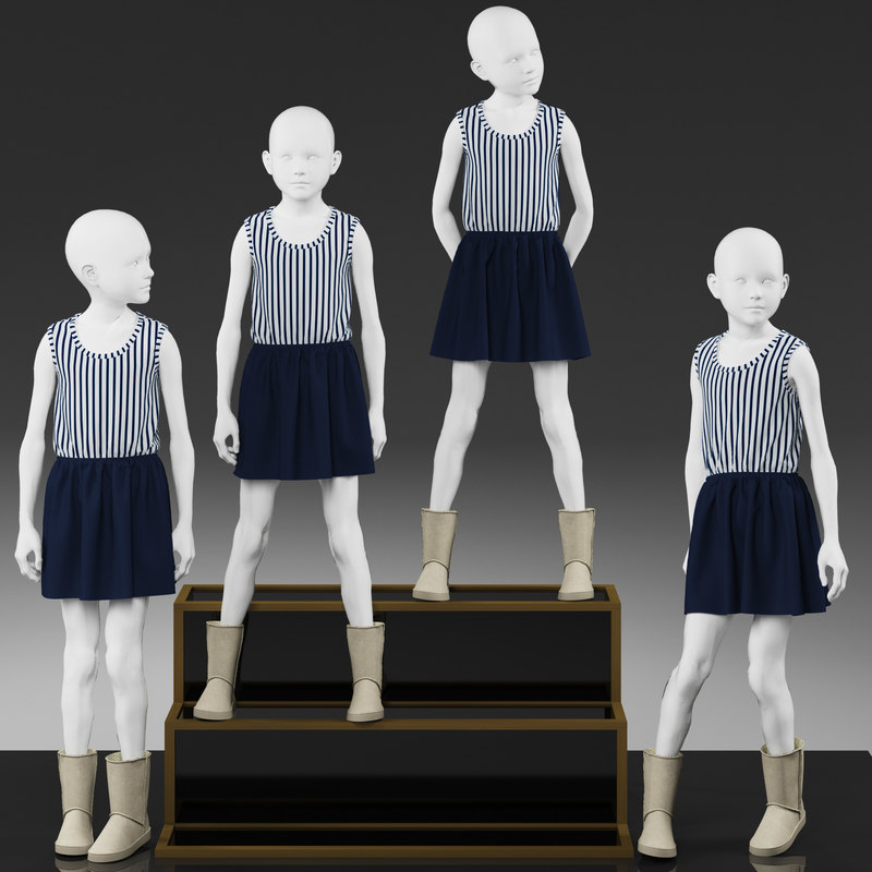 3d girl mannequin model