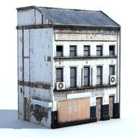 obj building exterior bake