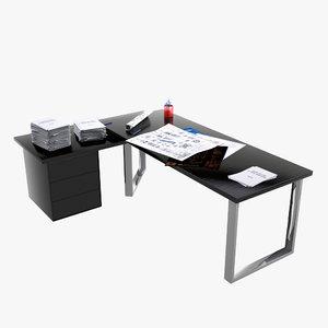 3d desk stationery model
