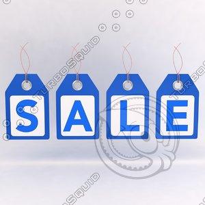 3d sales tag