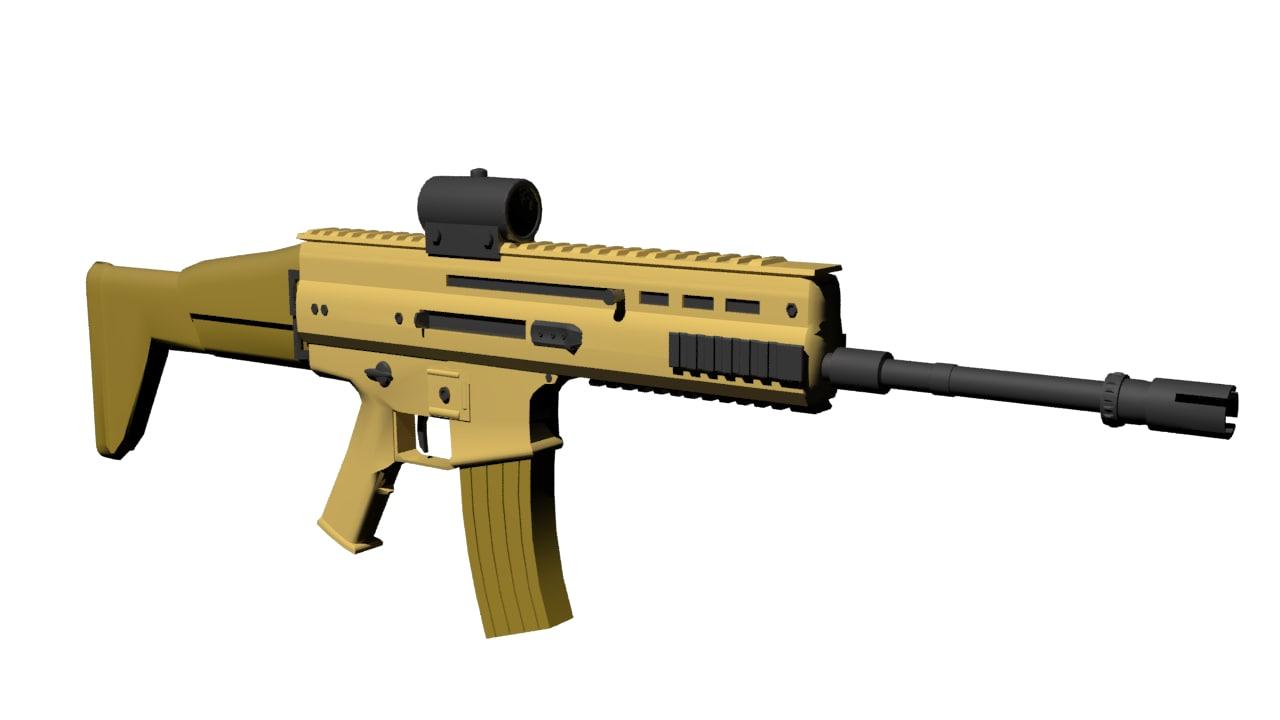 scar l - 3d max