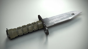 3d model m9 combat knife
