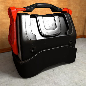 3d worn transport box model