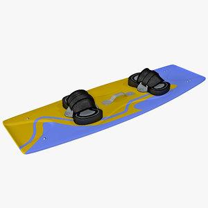 kitesurf board 3d model
