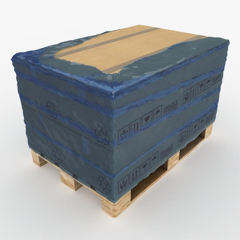 max realistic pallet boxes nylon