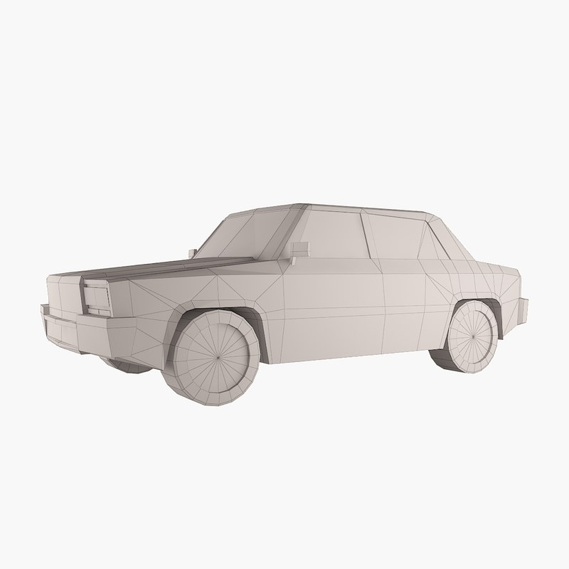 simple vehicle 3d model