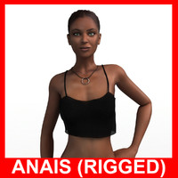 3d model ppl01 rigged woman anais