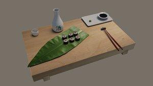 3d sushi maki model