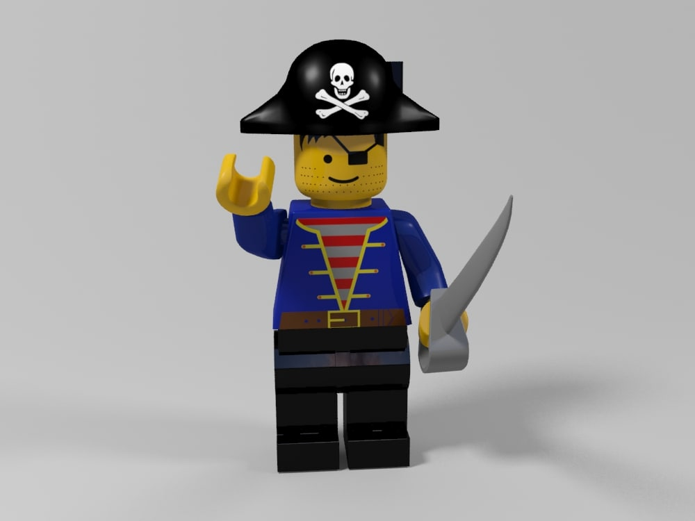lego pirate character 3d model