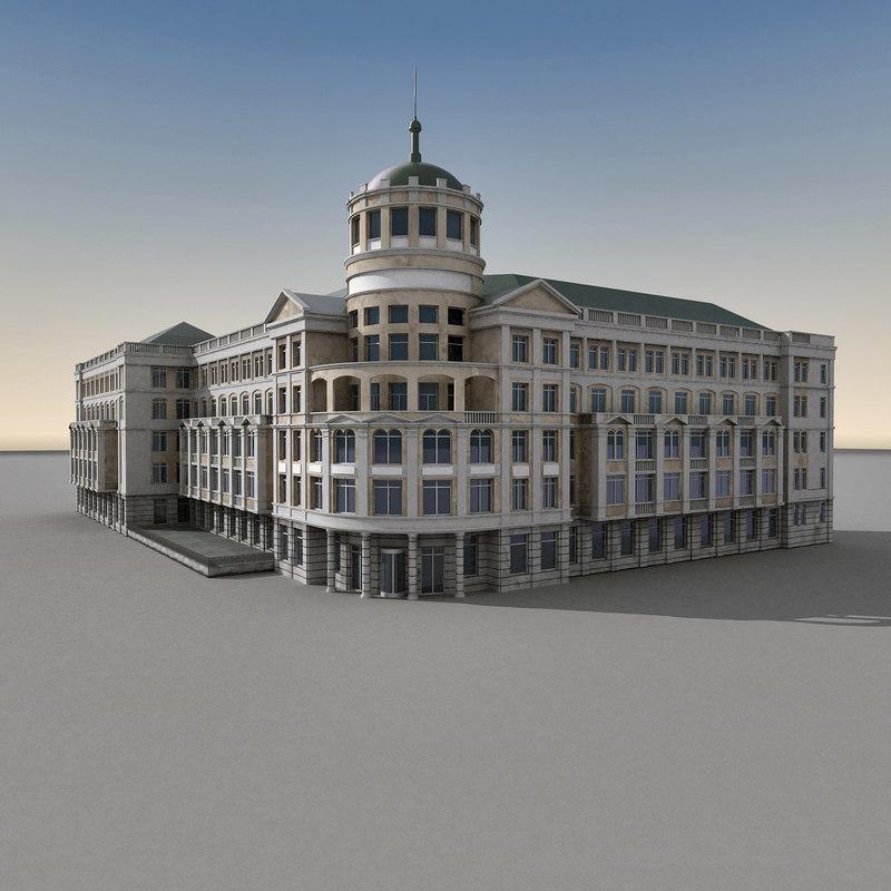 3d max european building europe
