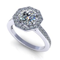halo-diamond-ring channel set