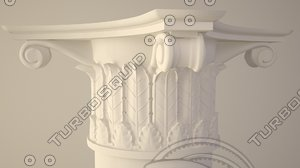 capital column 3d 3ds