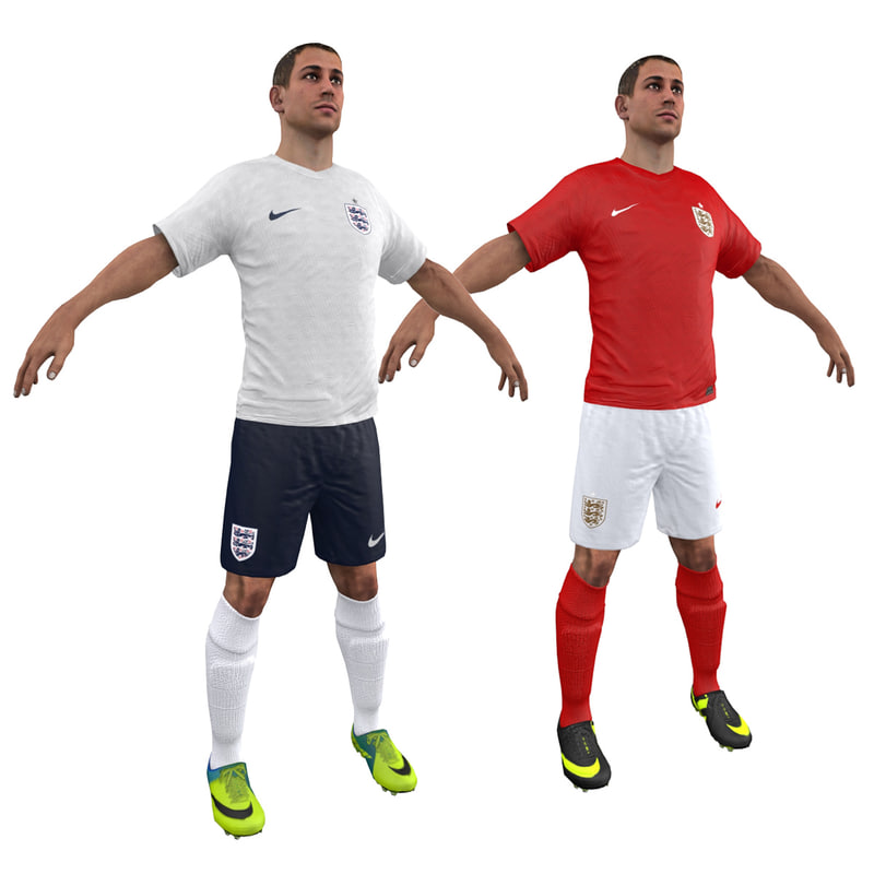 3d model soccer player