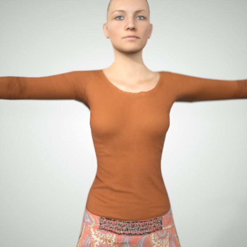 3d model photorealistic blond female character