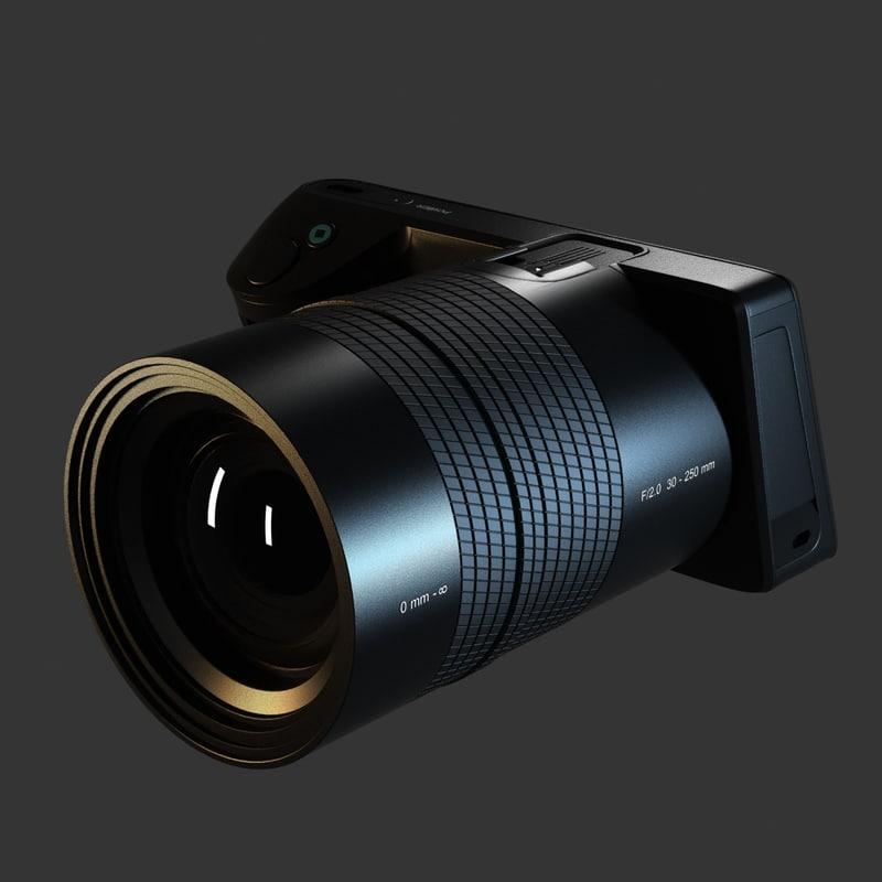 lytro illum digital camera 3d model